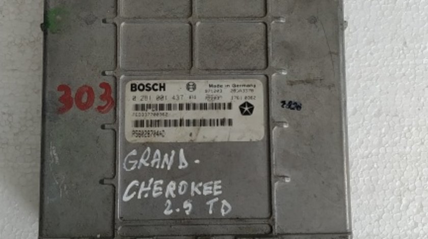 ECU calculator Jeep Grand Cherokee 2.5 TD cod 0281001437