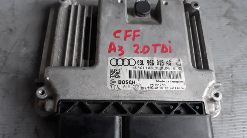 Ecu calculator motor 2.0 tdi cff vw passat cc b7 tiguan golf 6 skoda superb 03l906018ag 0281016372 1039s48707