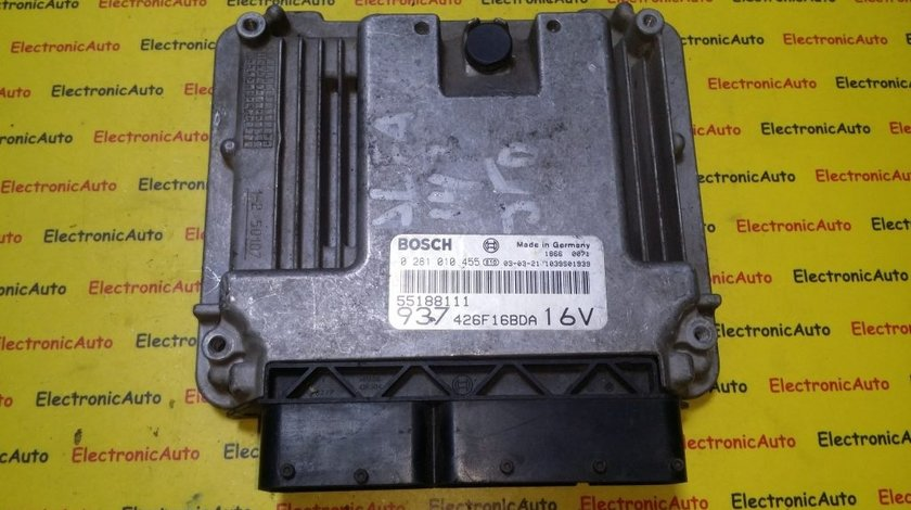 ECU Calculator motor Alfa Romeo 147 1.9JTD 0281010455, 55188111