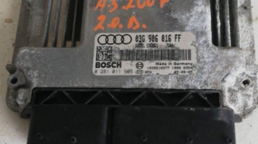 ECU calculator motor Audi A3 2007 cod 03G906016FF