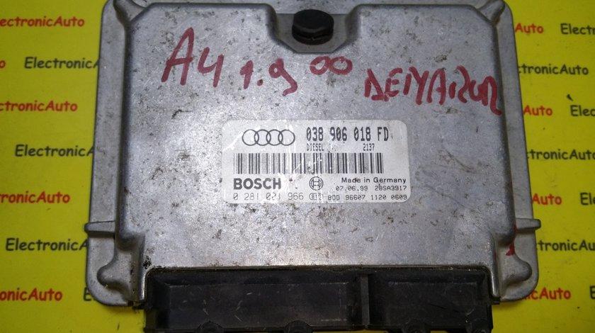 ECU Calculator motor Audi A4 1.9TDI 0281001966
