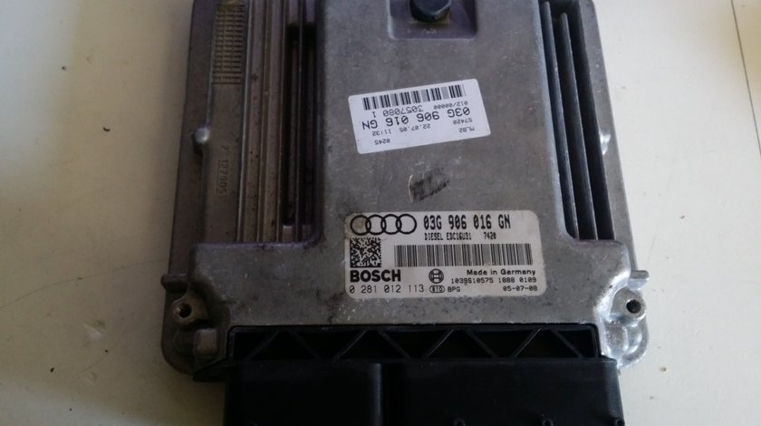 ECU Calculator motor Audi A4 2.0TDI 0281012113 EDC16U31 BLB 140CP