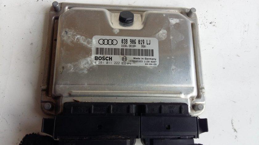 Ecu calculator motor audi a4 b6 1.9 tdi 038906019lj 0281011222 1039s05323