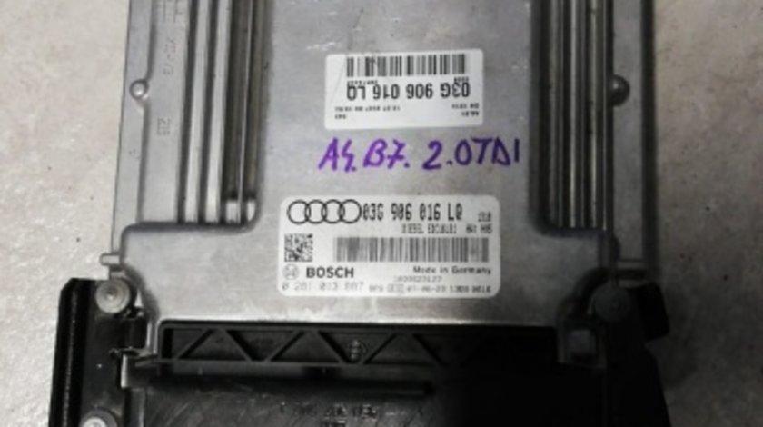 ECU Calculator motor Audi A4 B7 2.0TDI 0281013887