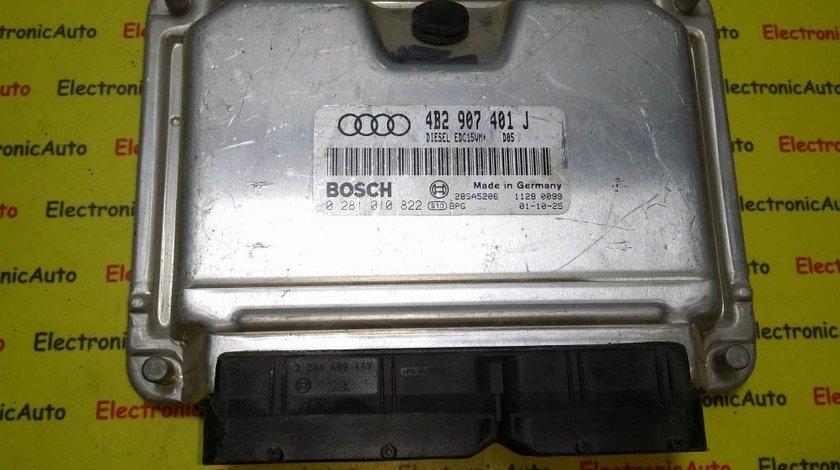 ECU Calculator motor Audi A6 2.5 tdi 0281010822, 4B2907401J