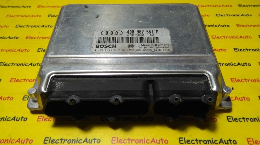 ECU Calculator motor Audi A8 2.8 0261204686, 4D0907551M