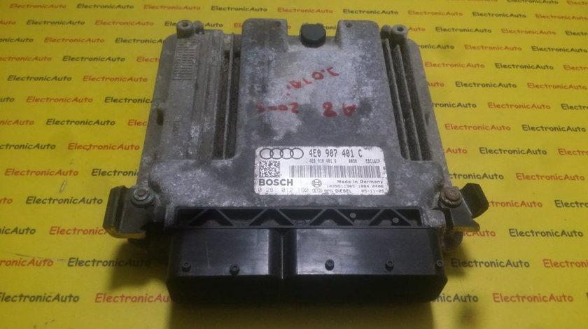 ECU Calculator motor Audi A8 3.0TDI 0281012192, 4E0907401C