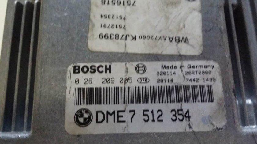 ECU Calculator motor Bmw 318i 2.0 0261209005 DME7512354
