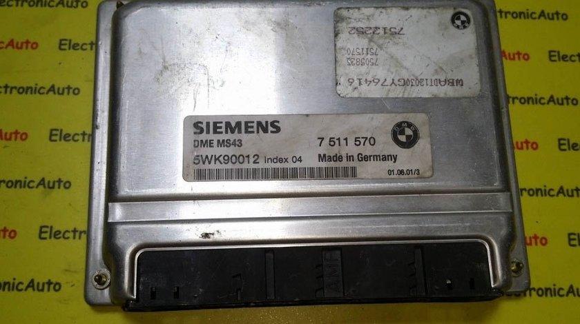ECU Calculator motor Bmw 525i 5WK90012 7511570