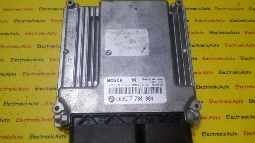 ECU Calculator motor Bmw 730D 0281011231, DDE7794904