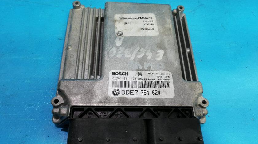 ECU Calculator Motor BMW E46 320D DDE7794624, 0281011122