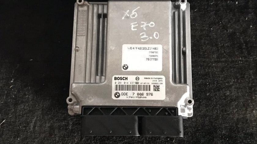ECU calculator motor BMW X5 E70 3.0 d DDE7806976 0281014437