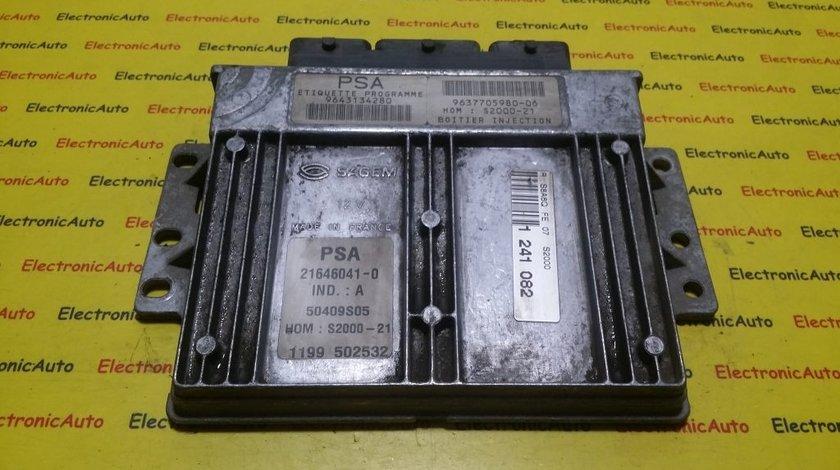 ECU Calculator motor Citroen 9643134280, 963770598006