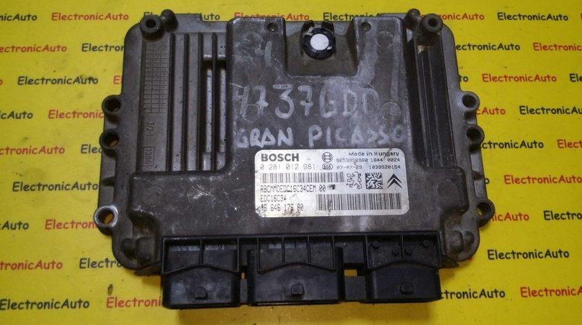 ECU Calculator motor Citroen C4, Picasso 1.6HDI 0281012981, 9664617680