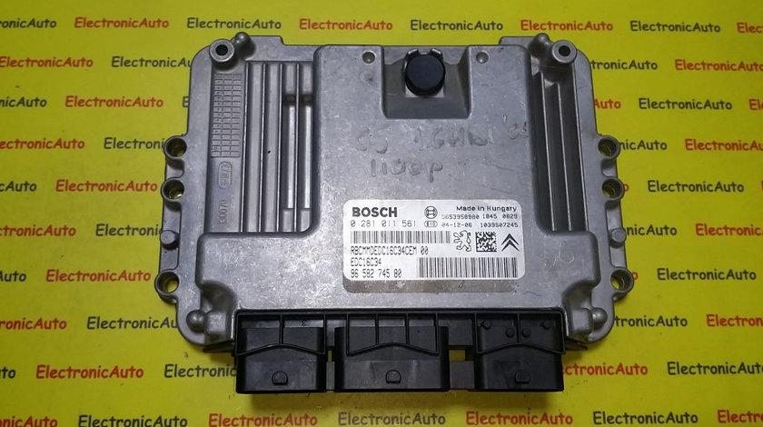 ECU Calculator motor Citroen C5 1.6HDI 0281011561, 9658274580
