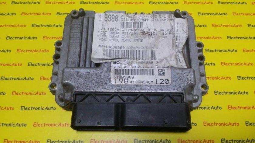 ECU Calculator Motor Fiat Bravo 1.9 JTD, 0281013579, 51809688, 1039S21653