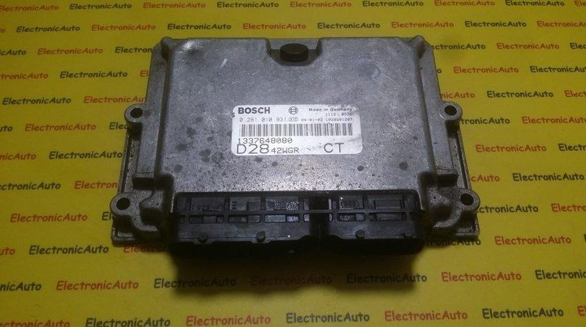 ECU Calculator motor Fiat Ducato 2.8JTD 0281010931, 1337648080