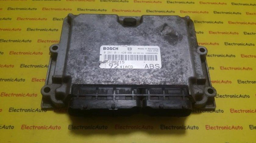 ECU Calculator motor Fiat Stilo 1.9JTD 0281011420, 55188215