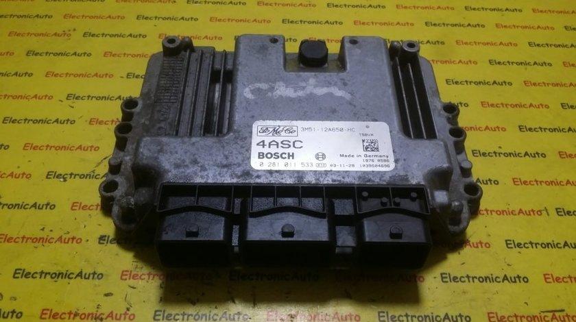 ECU Calculator motor Ford C-Max 1.6TDCI 3M5112A650HC, 0281011533