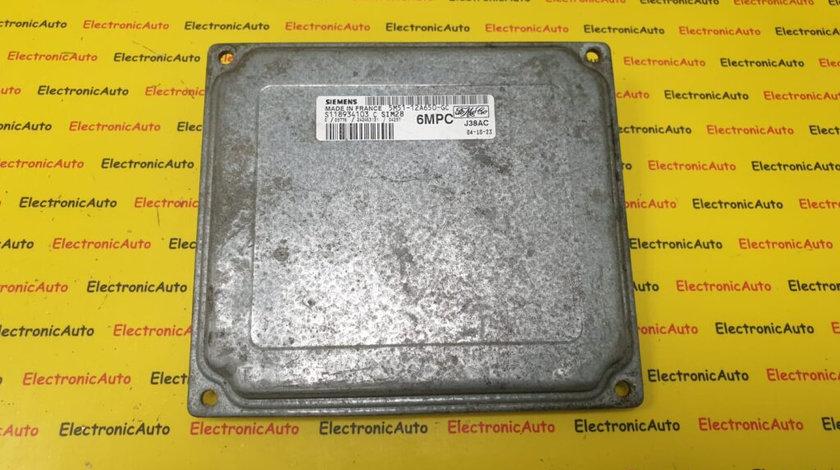 ECU Calculator Motor Ford Focus 1.4, S118934103 C, 5M51-12A650-GC, SIM28