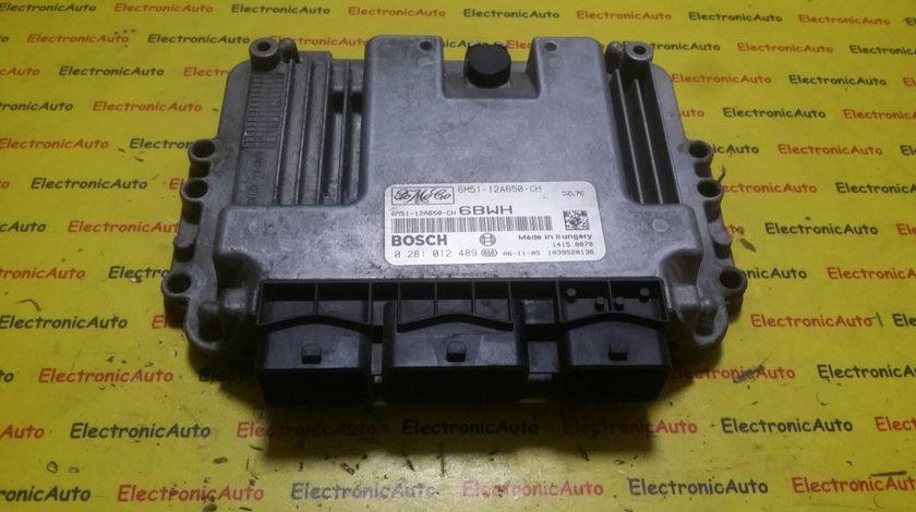 ECU Calculator motor Ford Focus 1.6 tdci 6M5112A650CH, 0281012489