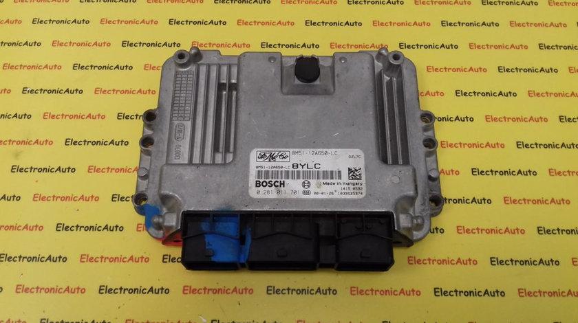 ECU Calculator Motor Ford Focus 1.6 tdci, 0281011701, 8M5112A650LC