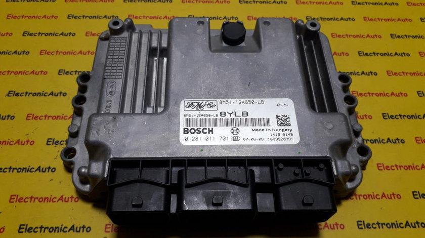 ECU Calculator motor Ford Focus 1.6 tdci 8M5112A650LB, 0281011701