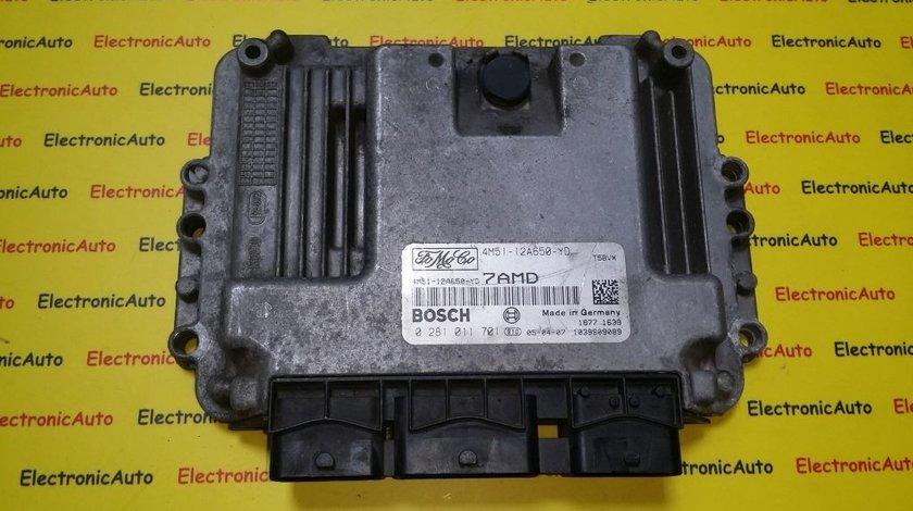 ECU Calculator motor Ford Focus 1.6TDCI 0281011701, 4M5112A650YD