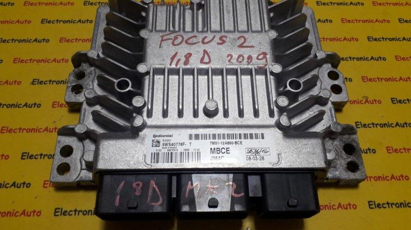 ECU Calculator motor Ford Focus 1.8 tdci 7M5112A650BCE, 5WS40778FT