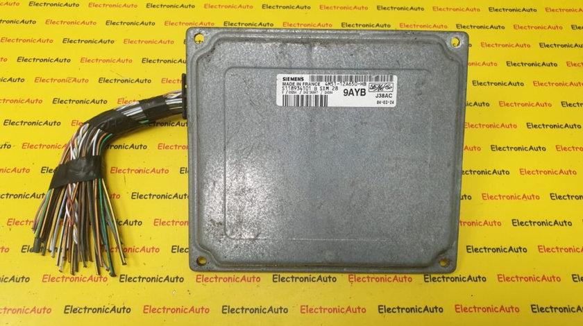 ECU Calculator Motor Ford Focus C-MAX 1.6, 4M51-12A650-HB, S118934101B, SIM28