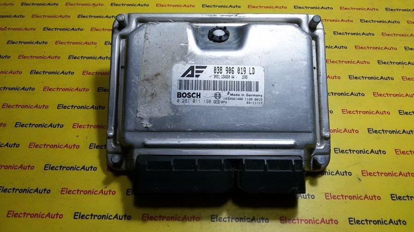 ECU Calculator motor Ford Galaxy 1.9 tdi 0281011198, 038906019LD