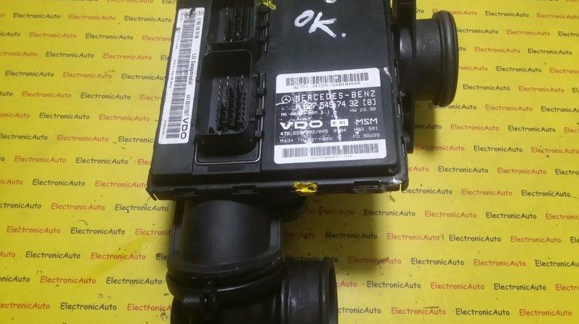 ECU Calculator motor Mercedes A140 1.4 A0275457432, A1661402400