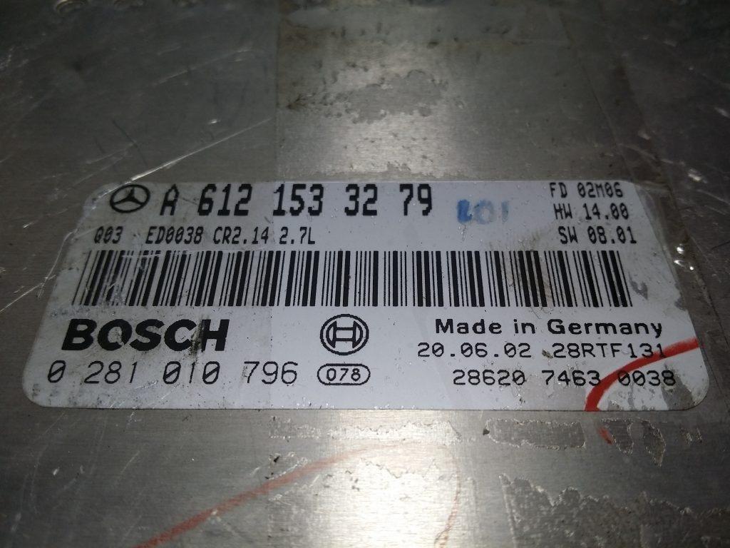 ECU Calculator motor Mercedes ML 270 2.7CDI A6121533279