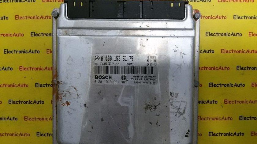 ECU Calculator motor Mercedes Sprinter 2.2CDI 0281010921, A0001536179