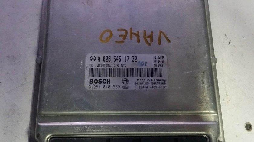 ECU Calculator motor Mercedes Vaneo 1.7 0281010539 A0285451732