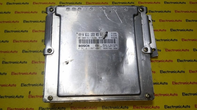 ECU Calculator motor Mercedes Vito 2.2CDI 0281011067, A6111530391