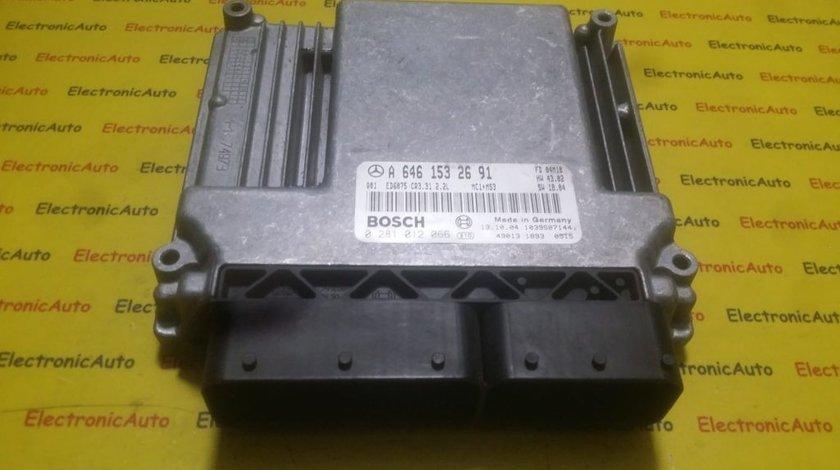 ECU Calculator motor Mercedes Vito 2.2CDI 0281012066, A6461532691