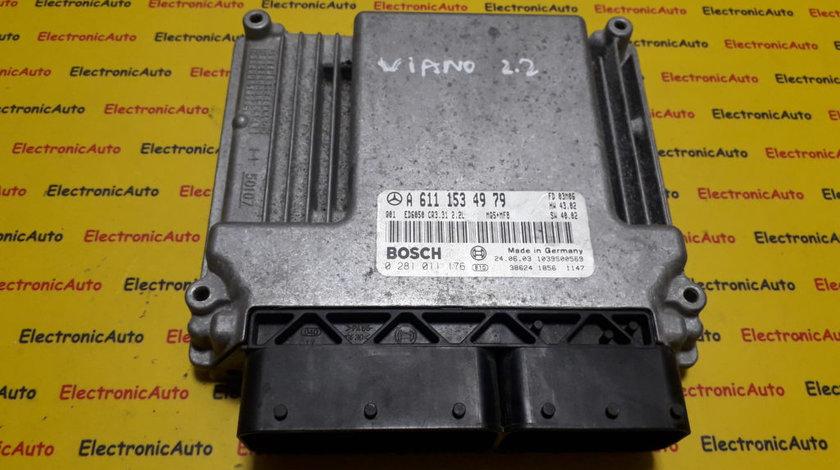 ECU Calculator motor Mercedes Vito Viano 2.2CDI 0281011176, A6111534979