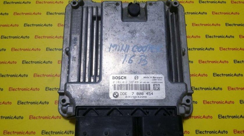 ECU Calculator motor Mini Cooper 1.6 d 0281012722 DDE7808454