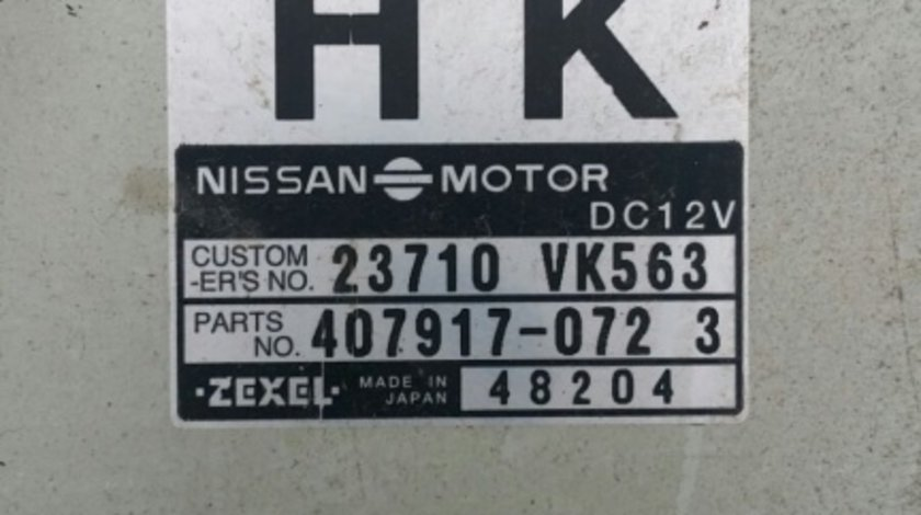 Ecu calculator motor Nissan Navara cod 23710VK563