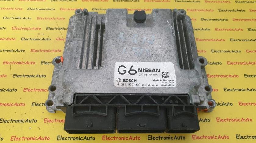 ECU Calculator Motor Nissan Qashqai 1.6DCi, 0281032827, 23710 HX49A, G6
