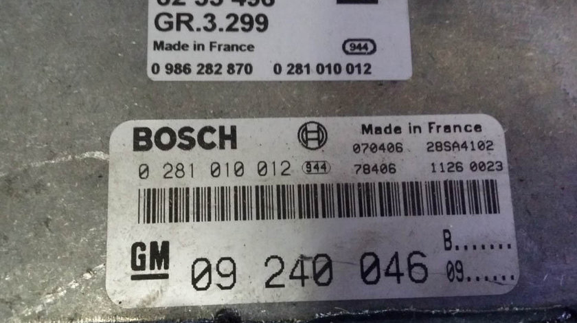 ECU Calculator motor Opel Astra G 2.0 dti 0281010012 EDC15M1 X20DTL