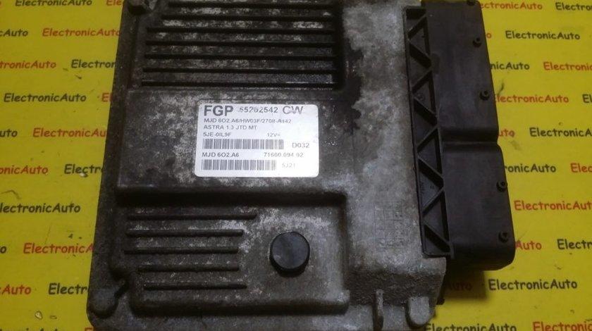 ECU Calculator motor Opel Astra H 1.3CDTI 55202542, 7160009402