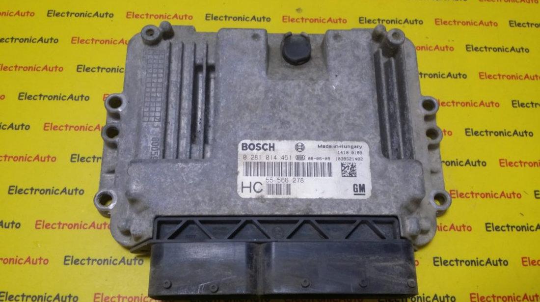 ECU Calculator motor Opel Astra H 1.9CDTI 55566278, 0281014451