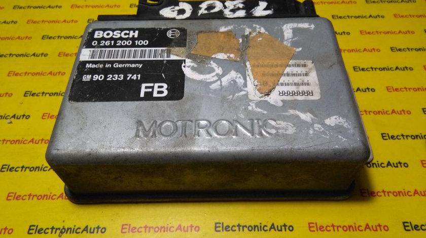 ECU Calculator motor Opel Omega 2.0 0261200100, GM90233741FB