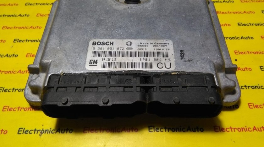 ECU Calculator motor Opel Vectra B 2.0 dti 0281001872, 28SA3871