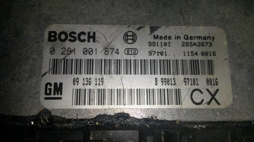 ECU Calculator motor Opel Vectra B 2.0 dti 0281001874