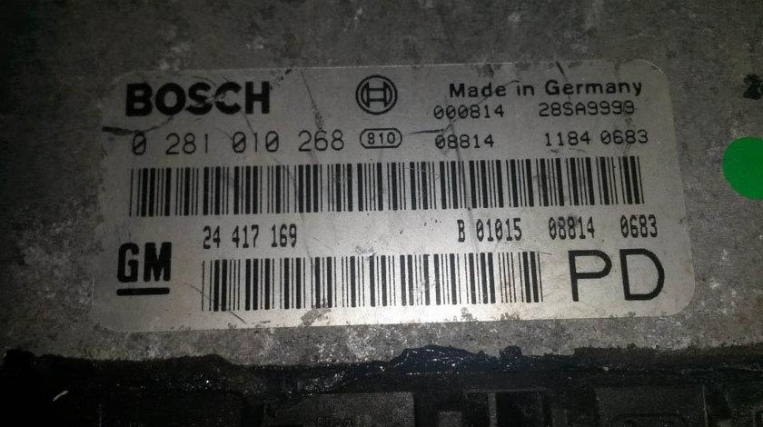ECU Calculator motor Opel Zafira 2.0 dti 0281010268, 24417169