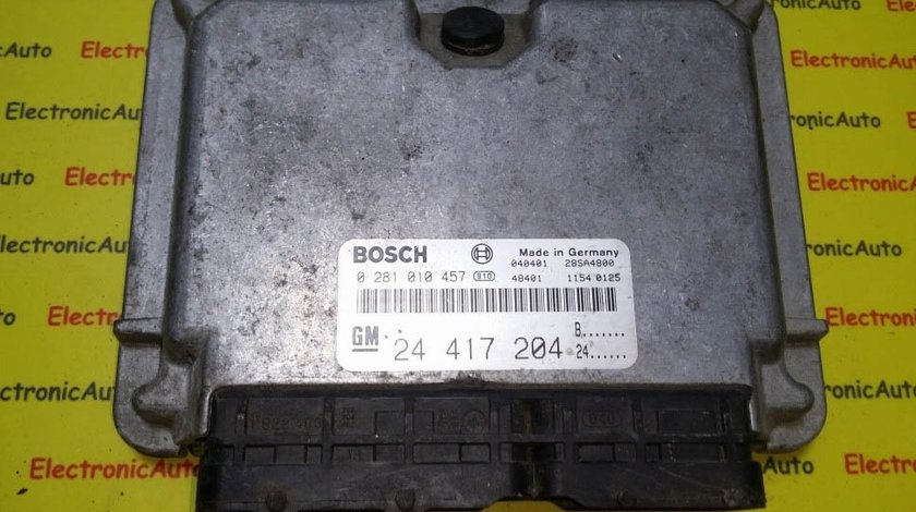 ECU Calculator Motor Opel Zafira A/Vectra B/Astra G, 0281010457, 24417204