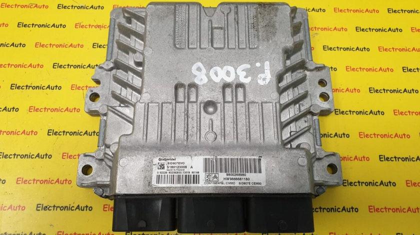 ECU Calculator Motor Peugeot 1.6 HDi, 9800268980, S180123008A (8SQW2)